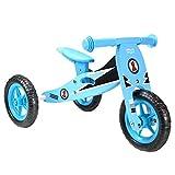 boppi 2 in 1 Triciclo in Legno - Bici Senza Pedali - Blu Corsa