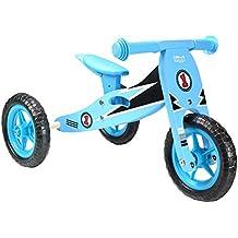 boppi® Triciclo de madera 2 en 1 - Bicicleta sin pedales - Azul Racing