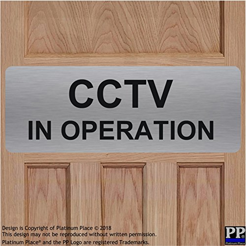 Aluminium CCTV in Operation sign-text only-brushed Silber metal-warning Sicherheit Sicherheit Kamera Tür Pinnwand Büro Shop Home Lager - Der Außerhalb Home-security-kameras