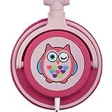 My Doodles DDOWLHP Casque Audio pour Enfants Limité à 85 dB -Hibou Vert