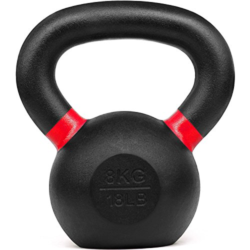 Kobo Cast Iron Kettlebells for Strength and Conditioning, Fitness, and Cross-Training - LB and KG Markings