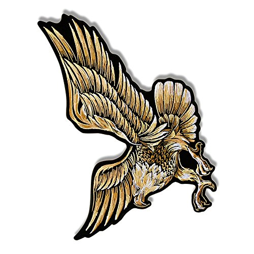 EAGLE IN FLIGHT, Outstanding Quality Iron-On / Saw-On Heat Sealed Backing High Thread Rayon PATCH - 12