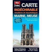 Marne, Meuse, Carte routière et touristique