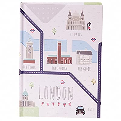 Hardback A6 Lined Note Book - London Map. PDS