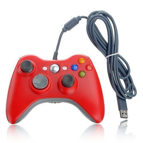 DuaFire Red Wired USB Pad Joypad Game Controller For MICROSOFT Xbox 360 PC Windows  available at amazon for Rs.2312