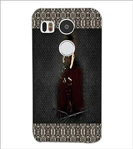 PrintDhaba Black Angel D-5669 Back Case Cover for LG NEXUS 5X (Multi-Coloured)