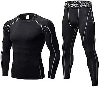 Men's Thermal Underwear Set Top Base Layer & Trousers Winter Ski Mountain Cycling Motorcycle Underwear