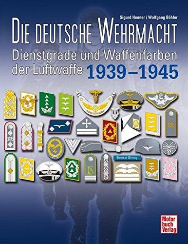 Die deutsche Wehrmacht: Dienstgrade und Waffenfarben der Luftwaffe 1939-1945