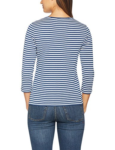 GERRY WEBER Edition Damen Langarmshirt 449 Mehrfarbig Blau/Ecru/Weiss  Ringel 8092