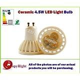 EnergyBrite - Bombilla LED de bajo consumo (GU10, 4W, casquillo cerámico, luz blanca, 4000k, equivalente a 50W)