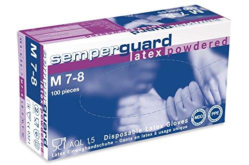 Semperguard Gants de Protection Latex Moyen Modèle 100 Pièces