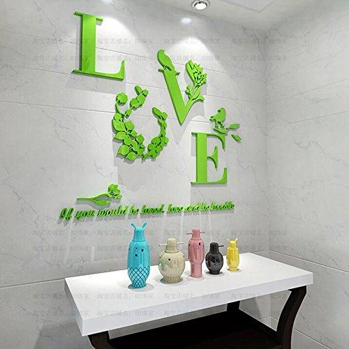 Liebe Hochzeit Zimmer Wandaufkleber dekorative Nachtwand Wandaufkleber Hintergrund Acryl Wandaufkleber Kristall dreidimensionale Wandaufkleber Liebe Schlafzimmer dreidimensionale Wandaufkleber ( Color : G )