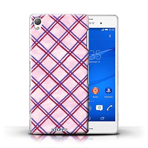 Kobalt® Imprimé Etui / Coque pour Sony Xperia Z3 / Orange conception / Série Motif Entrecroisé Violet/Rouge