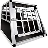 LovPet® Hundebox Transportbox Alubox Hundetransportbox Reisebox Alu Haustiere (M)