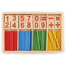 Peradix Juguetes Juegos Educativos Matemáticas con Números Palillos Aprendizaje para Niños (Igual)