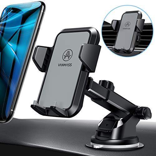 VANMASS Handyhalterung Auto Handyhalter fürs Auto Lüftung & Saugnapf Halterung 3 in 1 Smartphone Halterung KFZ 100{237c4b7019c2b2850c8166090f8a444ec7a6ba1f726d16c4b1a4aa6f0d109916} Silikon Schützt Universal für alle 4-7 Zoll Handys wie iPhone Samsung Huawei LG