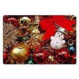 Estera antirresbaladiza de la puerta de la cocina Alfombra de baño lavable Alfombra de entrada para el hogar Alfombra de Navidad Patrón para el hogar Suministros de oficina para el hogar - Multicolor