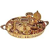 Exotic India Puja Thali - Brass