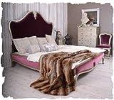 Schönes Bett/Ehebett/Doppelbett/Schlafzimmerbett/Maxibett mit lieblichem und extravaganten Schnitzereien aus Holz und zudem im angesagten französischen Landhaus-Stil – Palazzo Exclusive - 3
