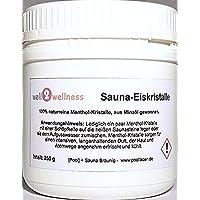Sauna - CRISTALES DE HIELO / Mentol - Cristales en una 250g Lata - de 100% Puro Aceite de Menta
