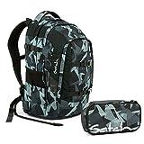 Satch Pack Gravity Grey Schulrucksack Set 2tlg.