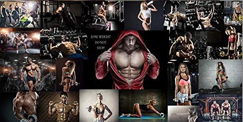 ADDFLOWER 3D Wallpaper Mode Gym Boxen Gym Persönlichkeit Männer Und Frauen Poster Tooling Hintergrund Tapeten Wandbild @ 400X280Cm_ (157.5_By_110.2_In) _