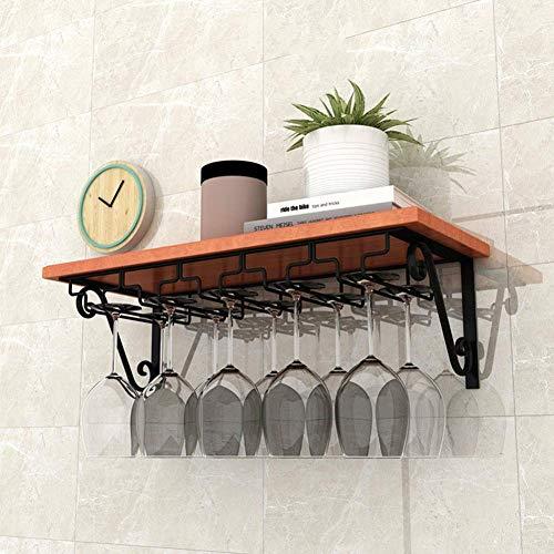 Schwimmende Regale Display Stand Organizer aus massivem Holz Weinglas Rack mit extra breiter Platte für die Küche, 3 Größen,60 * 25 cm -