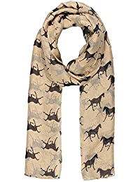 World of Shawls Women Scarf Horses Print Design Ladies Scarves Shawl Wrap Maxi Scarf Sarong