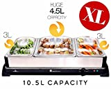 from Homefront HOMEFRONT 2 in 1 X LARGE PRO-SERIES BUFFET/HOT TRAY FOOD SERVER (EXTRA LARGE CAPACITY 10.5 LITRES)