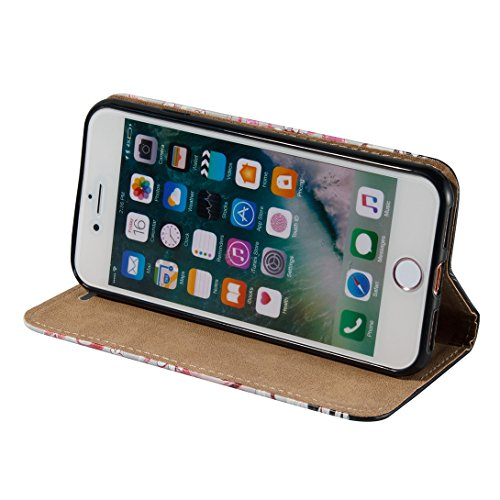 Pheant® Apple iPhone 7 (4.7 pouces) Étui à rabat Coque Pochette en PU Cuir avec 3D Spécial Effet Fille
