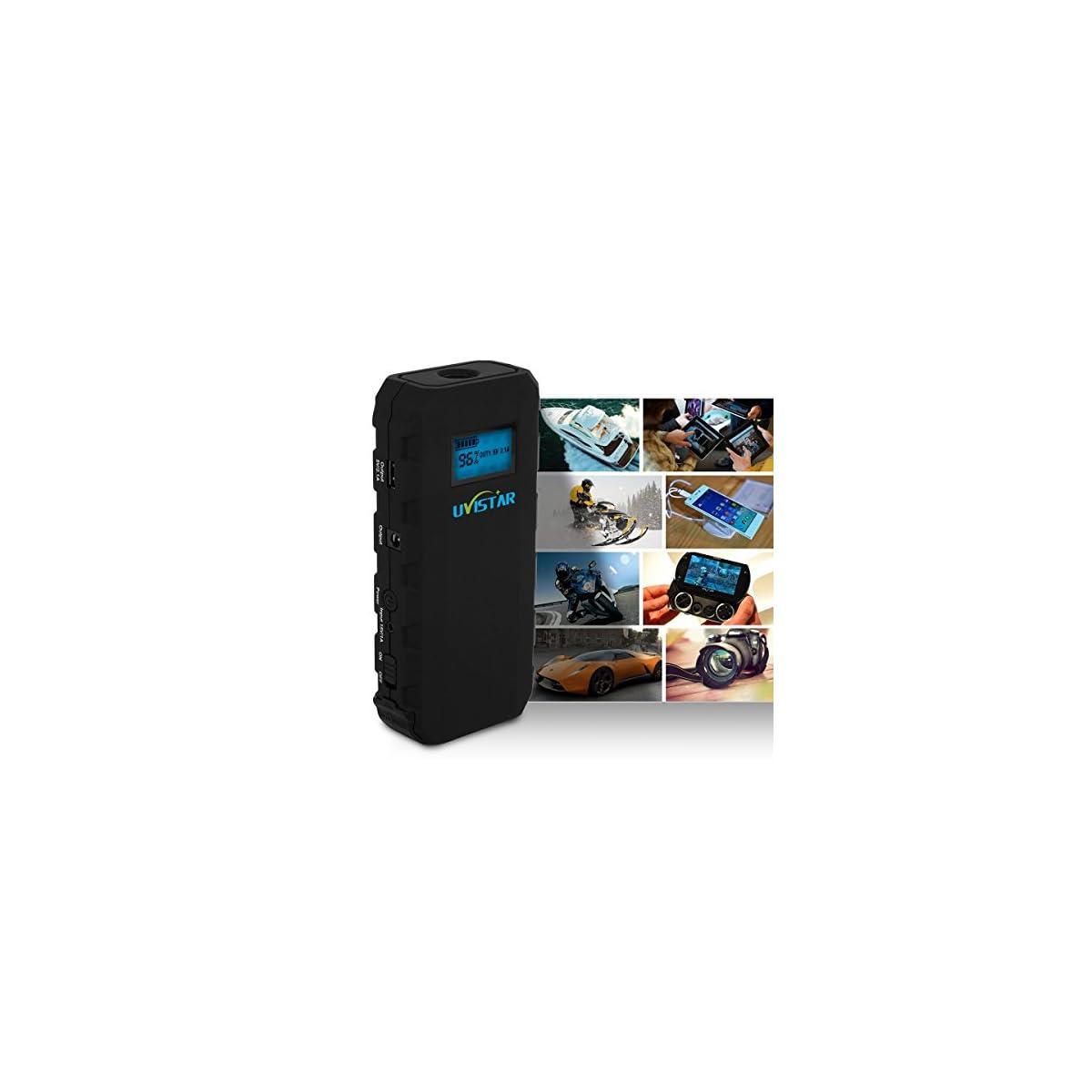 51pY5aO%2BseL. SS1200  - Uvistare Jump Starter Batería Arrancador de Coche con la Antorcha del LED (500A, 12000mAh, Diseño Delgado, Ultra Slim, Portátil, Batería Externa, Pantalla LCD) para la Tableta del Teléfono y ect