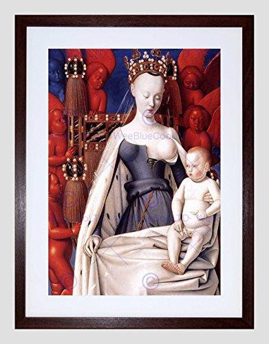 Preisvergleich Produktbild JEAN FOUQUET MADONNA CHILD LEFT PANEL DIPTYCH DE MELUN FRAMED ART PRINT B12X588