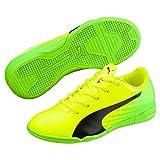 Puma Unisex-Kinder Evospeed 17.5 IT Jr Fußballschuhe, Gelb (Safety Yellow Black-Green Gecko 01), 28 EU