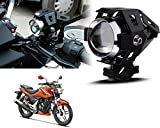 #7: Auto Pearl - LED Auxiliary Motorcycle Light Lamp Projector Lens With Low Beam High Beam & Strobe Function For - Hero MotoCorp CBZ Xtreme
