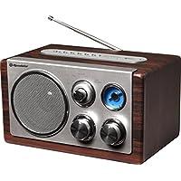 Roadstar HRA-1345US Portátil Analógica Madera - Radio (Portátil, Analógica, FM,MW, 3,5 W, de 1 vía, Madera)