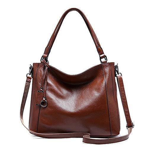 JKLP Handtaschen aus Leder Damen Umhängetasche Schultertasche -