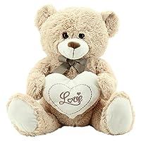 Sweety Toys 9008 teddy bear valentine with heart 60 cm