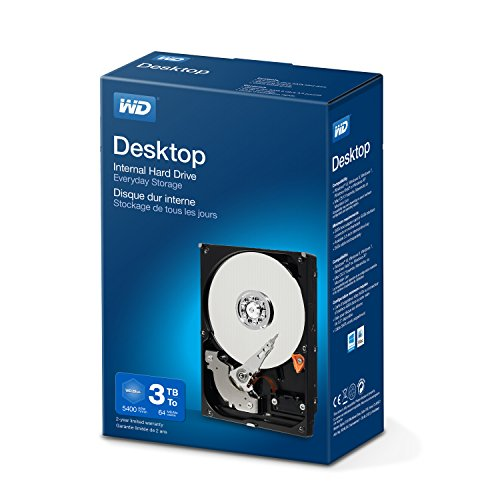 WD Blue 3 TB Interne Festplatte (8,89 cm (3,5 Zoll) 5400 U/min, SATA, 6 Gb/s, 64 MB Cache) (Retail Kit)