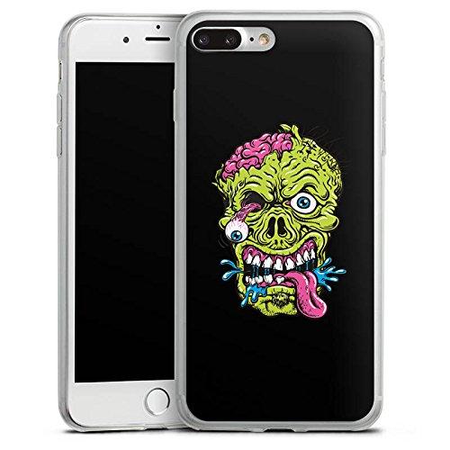 Apple iPhone 8 Plus Slim Case Silikon Hülle Schutzhülle Zombie Halloween Gruselig Silikon Slim Case transparent