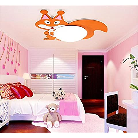 techo de la habitación de los niños luces moderno niños de dibujos animados de ardilla dormitorios minimalistas y lámparas sitio de las