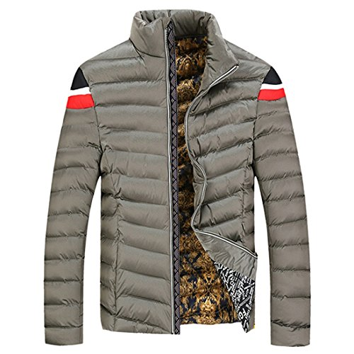 Koreanischen Maenner Erwachsener warme Winter Dickes Fleece Freizeit Mantel Jacke Outwear Kleidung Khaki