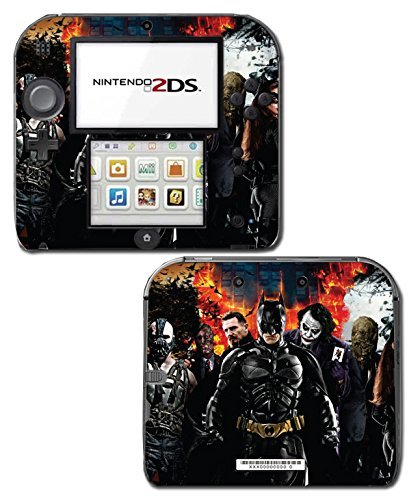 Batman Begins Dark Knight Rises Joker Bane Two Face Video Game Vinyl Decal Skin Sticker Cover for Nintendo 2DS System Console by Vinyl Skin Designs (Face Und Two Joker)