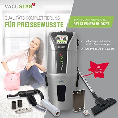 Zentralstaubsauger/Einbaustaubsauger/Staubsaugeranlage Vacustar Komplettierung PRO-LED 643