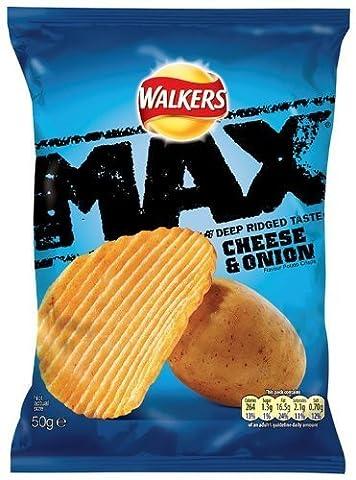 Walkers Max Crisps (50gx24) (Cheese & Onion)