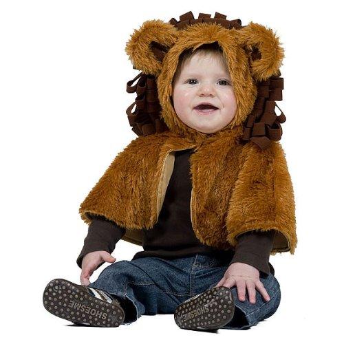 Kostümplanet® Löwen-Kostüm Cape für Kinder Baby-Kostüm Kinderkostüm Löwe Größe 80