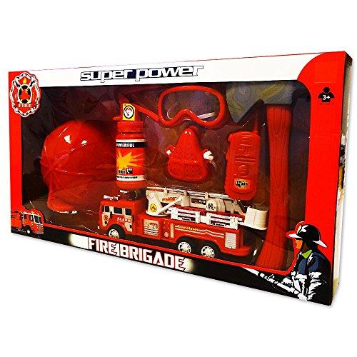 Für Kostüme Feuerwehr Kinder (Kinder Feuerwehr-Set Feuerwehrmann Kostüm Accessoires Spielzeug)