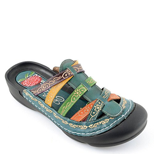 9319ec1ef3bc Corkys Elite Rock Women s Slip On Clog Sandal (Blue Multi
