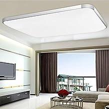MCTECH 48W LED Kaltweiss 6000K 6500K Deckenleuchte Modern Deckenlampe Flur Wohnzimmer Lampe Schlafzimmer