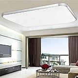 MCTECH 48W Kaltweiß Deckenleuchte Modern Deckenlampe Flur Wohnzimmer Lampe Schlafzimmer (48W Kaltweiß)