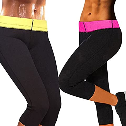 Women's Slimming Pants Capris Hot Thermo Neoprene Sweat Sauna Body Shapers Yoga for Weight Loss (Thermo Fat Burner)